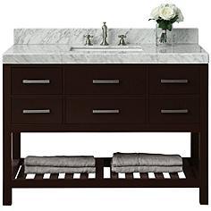 "Elizabeth Espresso 48"" Italian Marble Single Sink Vanity"