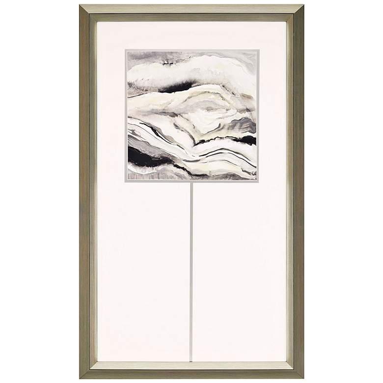 """Crystalline II 52"""" High Metallic Abstract Framed Wall Art"""