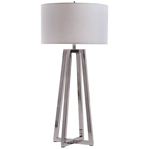 Maison Home Jensen Polished Nickel Table Lamp