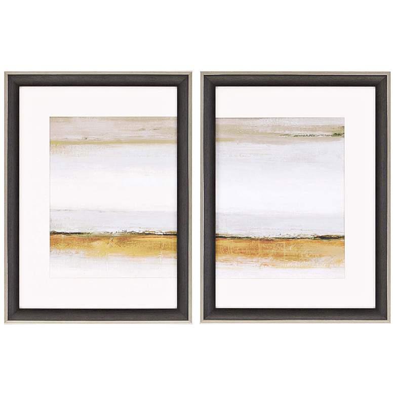 "Calm 31"" High Coastal Diptych 2-Piece Framed Wall Art"