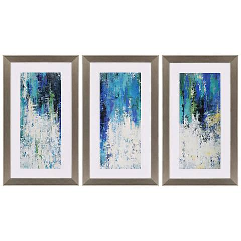 "Surface 41"" High Triptych 3-Piece Framed Wall Art Set"