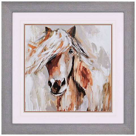 "Soul Whisperer 44"" Square Painted Pony Framed Wall Art"