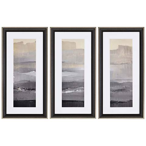 "In the Distance 31"" High Triptych 3-Piece Framed Wall Art"