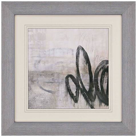 """Soft Touch III 40"""" Square Abstract Print Framed Wall Art"""