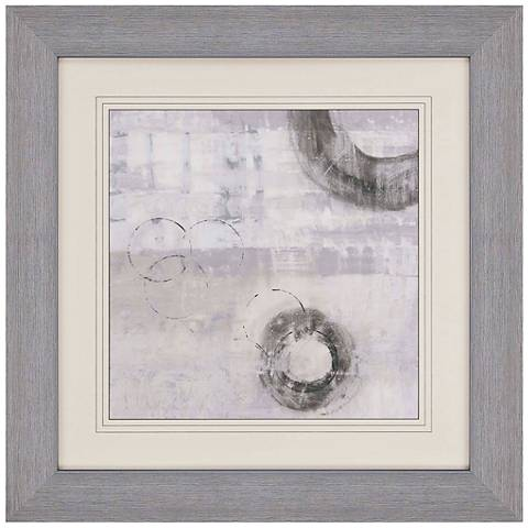 "Soft Touch IV 40"" Square Abstract Print Framed Wall Art"