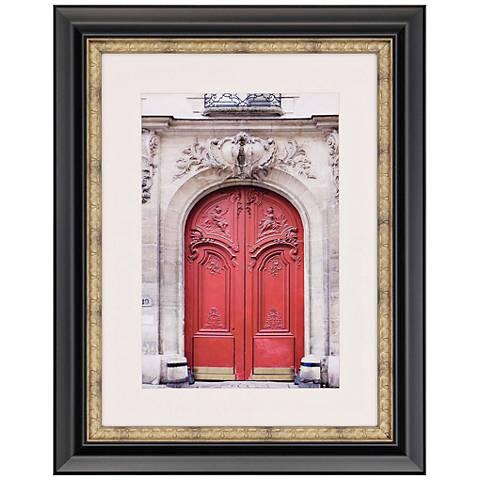 "Valentine 34"" High Red Door Photograph Framed Wall Art"