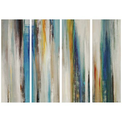"Passage Abstract Brushstrokes 30"" High 4-Panel Wall Art"