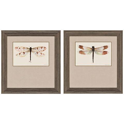 "Beautiful Wings I 32"" High 2-Print Framed Wall Art Set"