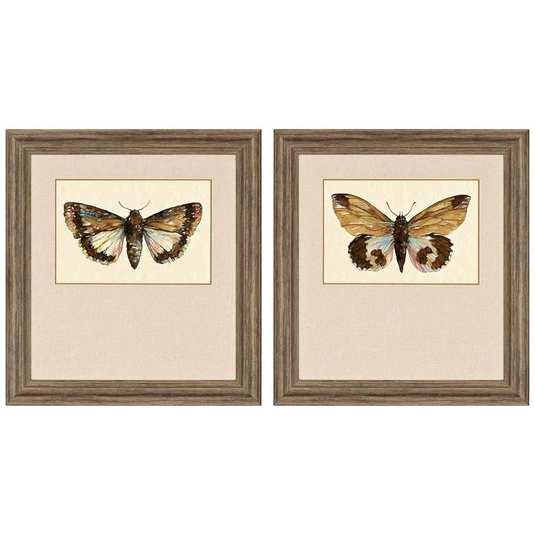 "Beautiful Wings II 32"" High 2-Print Framed Wall"