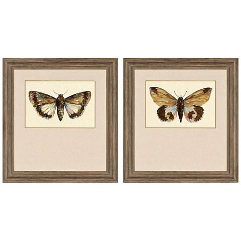 "Beautiful Wings II 32"" High 2-Print Framed Wall Art Set"