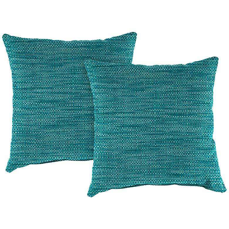 """Remi Lagoon Text 18"""" Square Indoor-Outdoor Pillow Set of 2"""