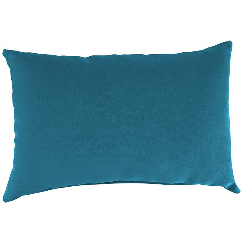 """Fresco Peacock 18""""x12"""" Accent Indoor-Outdoor Pillow"""