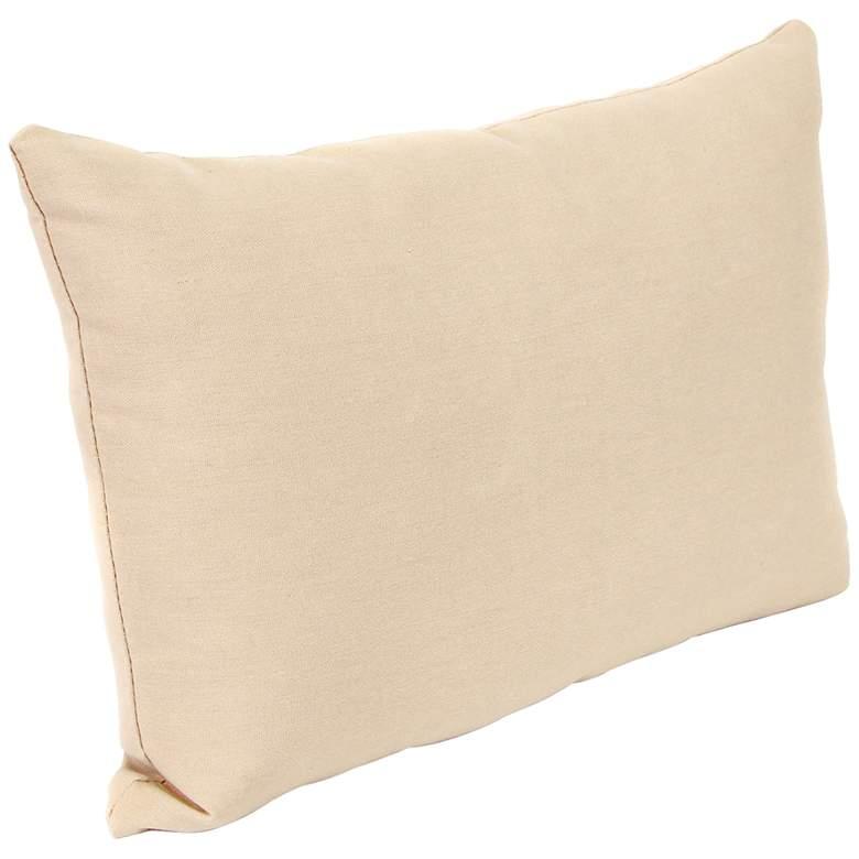 """Classic Antique Beige 18""""x12"""" Accent Indoor-Outdoor Pillow"""