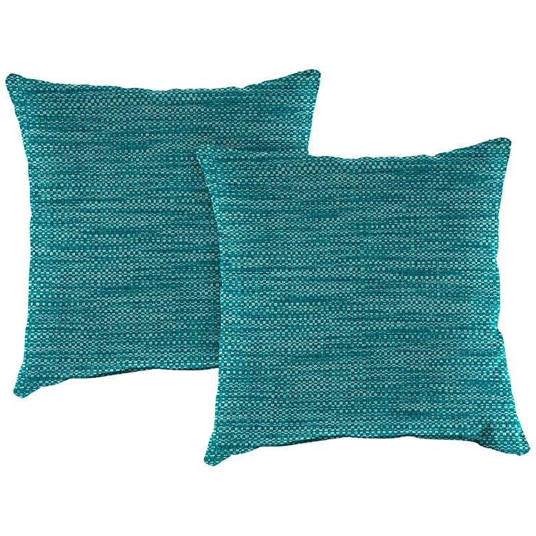"""Remi Lagoon Text 16"""" Square Indoor-Outdoor Pillow Set"""