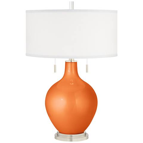 Burnt Orange Metallic Toby Table Lamp