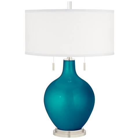 Turquoise Metallic Toby Table Lamp