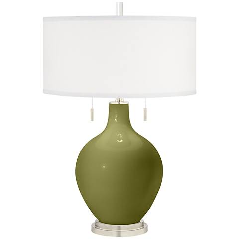 Rural Green Toby Table Lamp