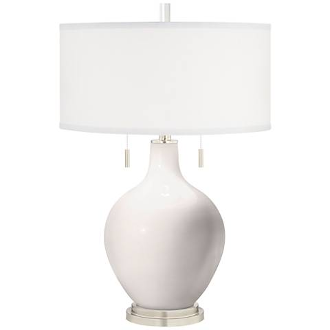 Smart White Toby Table Lamp