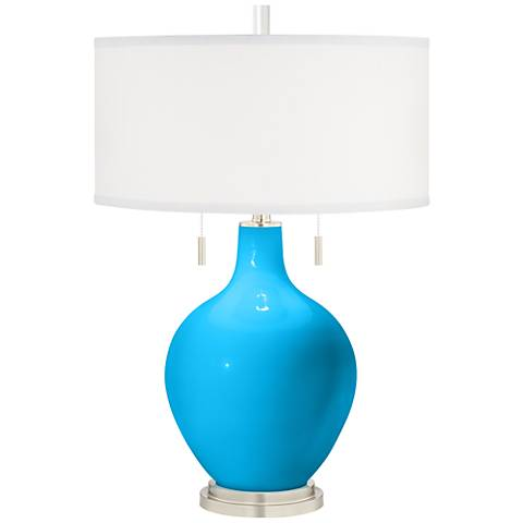Sky Blue Toby Table Lamp