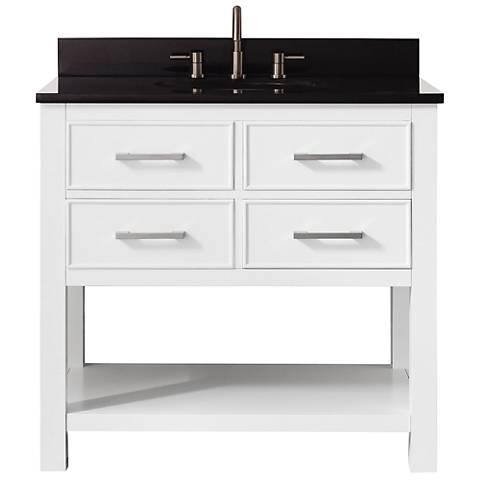 """Avanity Brooks 37"""" Black Granite White Single-Sink Vanity"""
