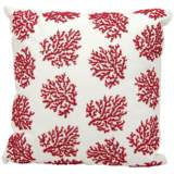 "Nourison Beaded Coral 18"" Square Outdoor Pillow"