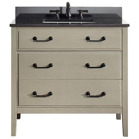"Avanity Delano Taupe 37"" Granite-Top Single Sink Vanity"