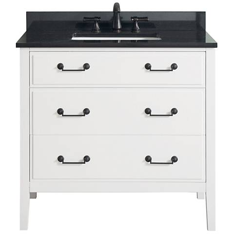 "Avanity Delano White 37"" Granite-Top Single Sink Vanity"