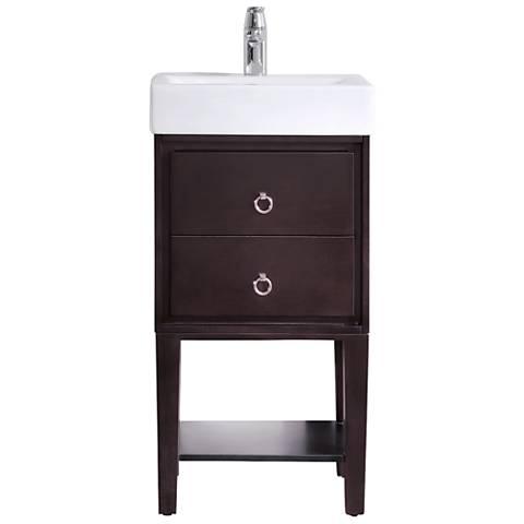 Avanity Kent Coffee Small White China Single Sink Vanity