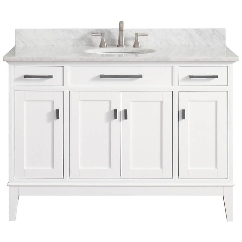 """Avanity Madison 49"""" Marble-Top White Single Sink Vanity"""