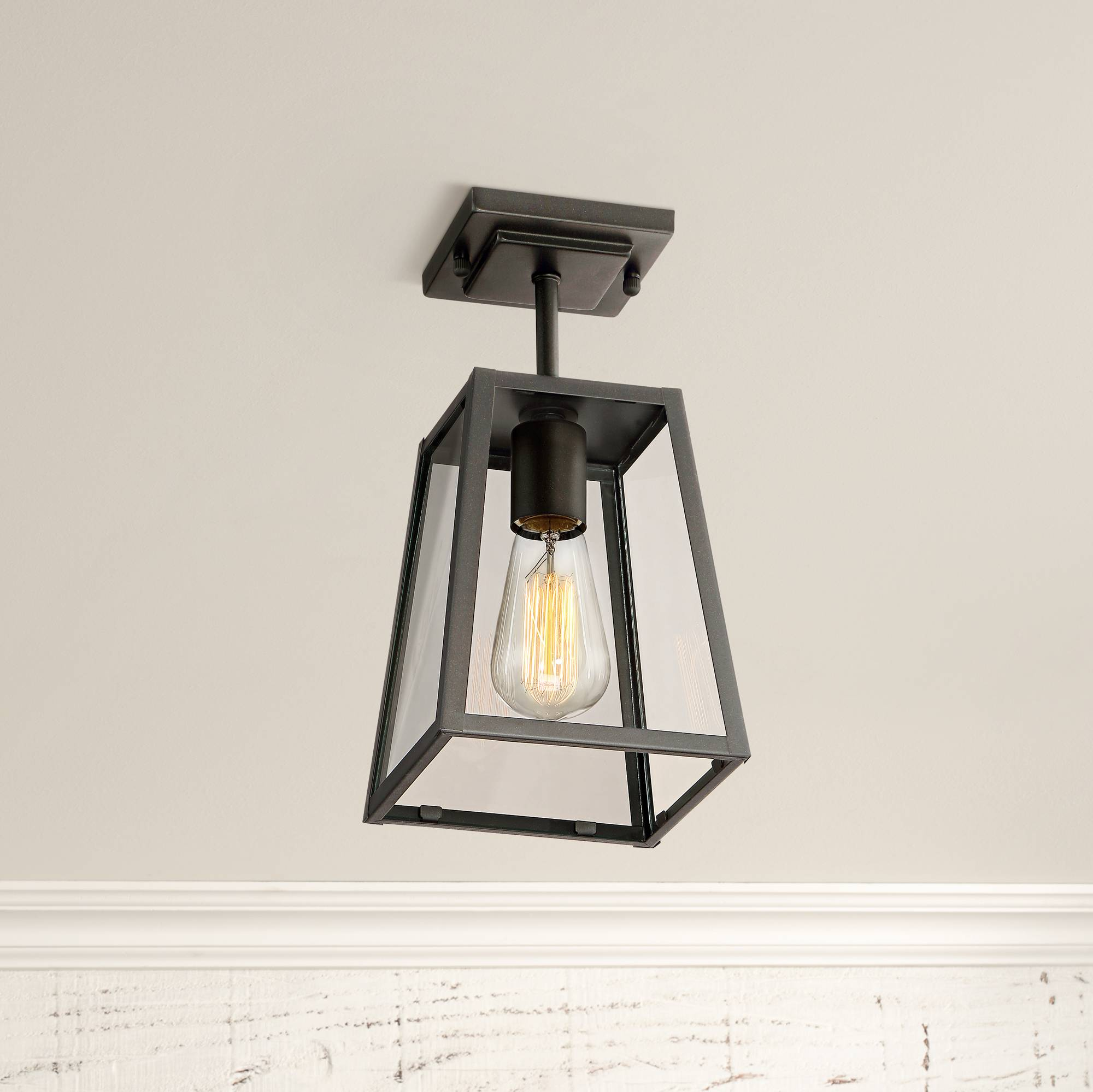 Details about modern outdoor ceiling light fixture mystic black 6 damp for house porch patio