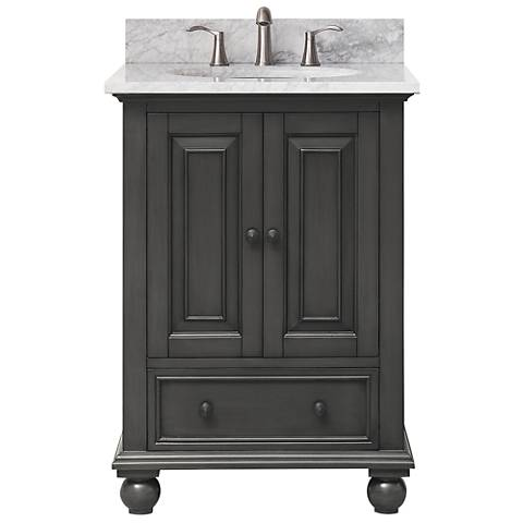 "Avanity Thompson Charcoal 25"" Marble Single Sink Vanity"