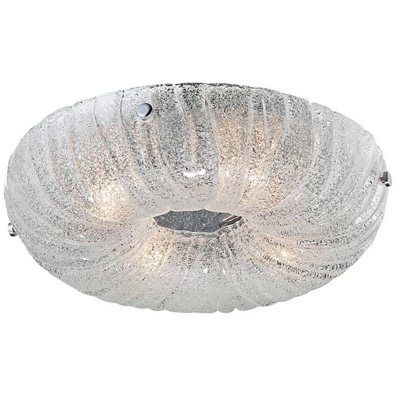 "Eurofase Spectra 15"" Round Sugar Glass Ceiling Light"