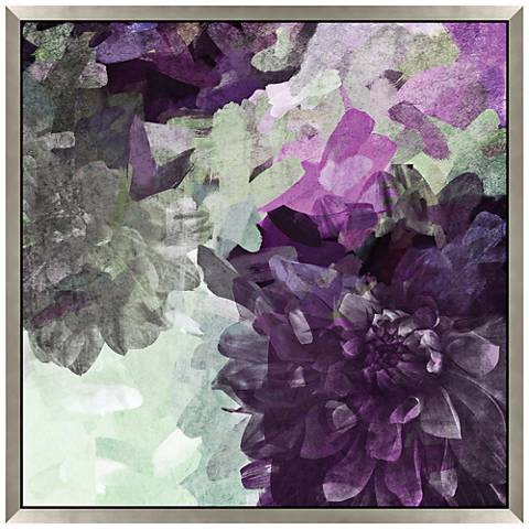 """Purple Party You're Invited III 27"""" Square Wall Art Print"""