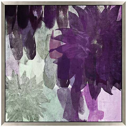"Purple Party You're Invited I 27"" Square Floral Wall Art"