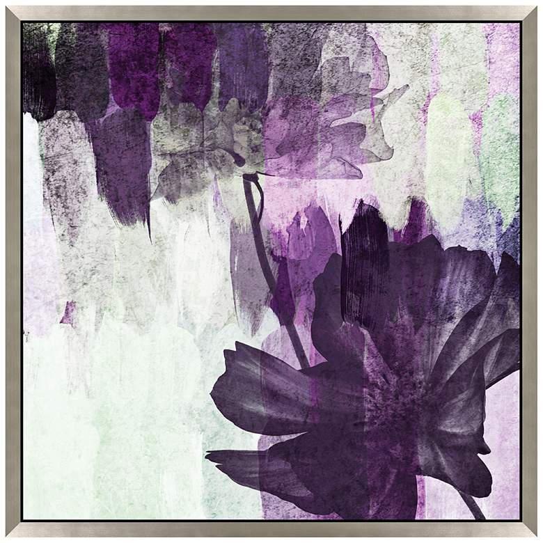 """Purple Party You're Invited II 27"""" Square Floral"""