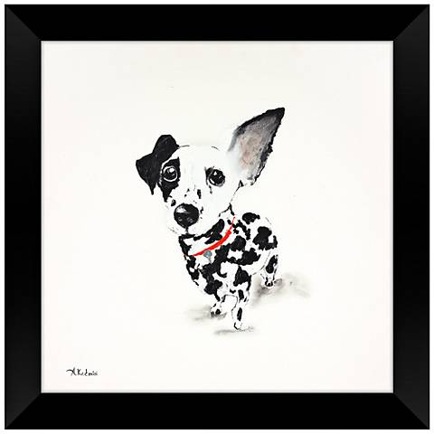 "Black Eyed Susan 28"" Square Puppy Dog Framed Wall Art"