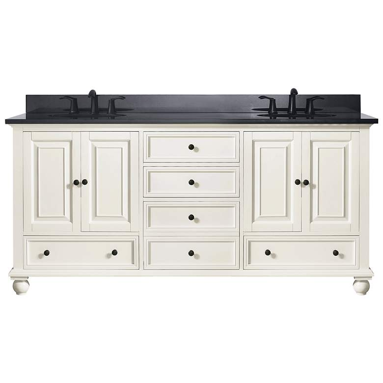 "Avanity Thompson White 73"" Granite-Top Double Sink Vanity"