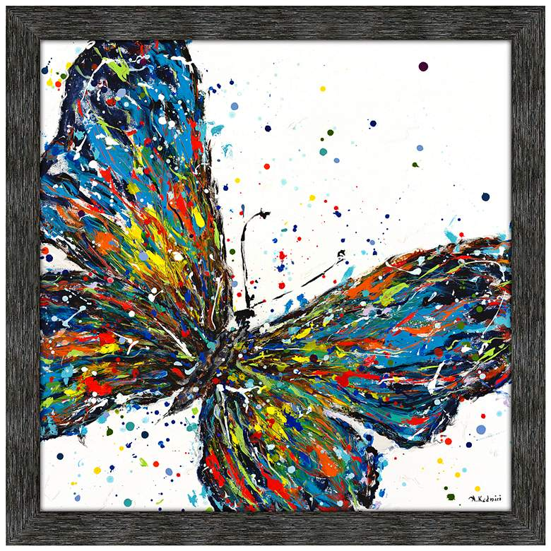 """Confetti Butterfly 42"""" Square Framed Wall Art Print"""