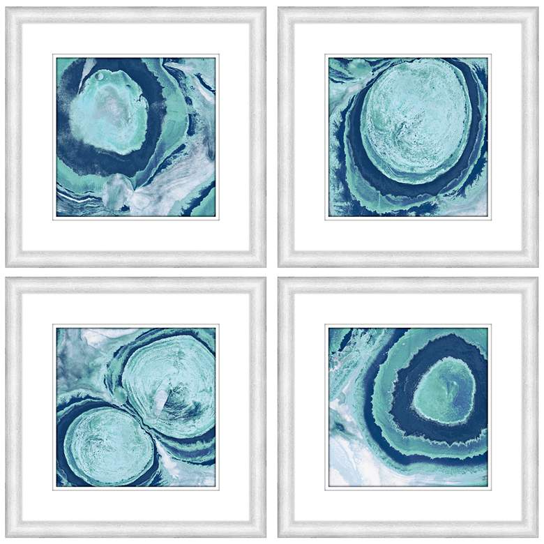 """Part Of A Bigger Picture IV 23""""W Abstract Wall Art Set of 4"""