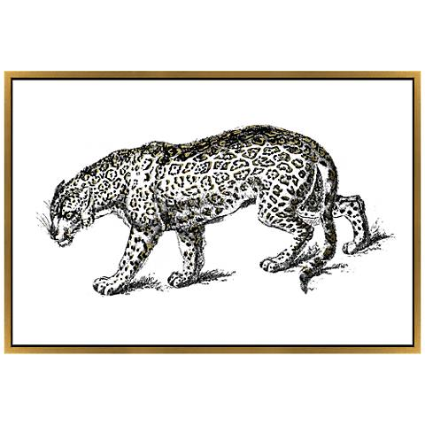 "A Little On The Wild Side 68""W Leopard Framed Wall Art"