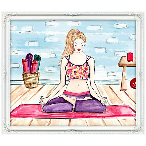 """Yogaficionado 25""""W Illustrated Feminine Framed Wall Art"""