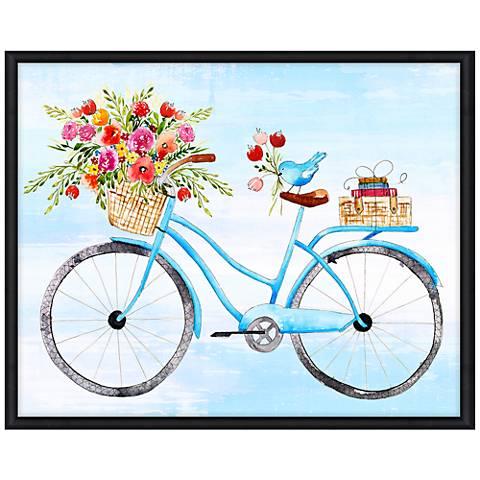 "Free Ride 43"" Wide Illustrated Feminine Framed Wall Art"