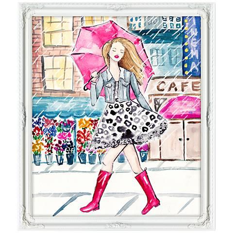 "Right As Rain 32""W Illustrated Feminine Framed Wall Art"