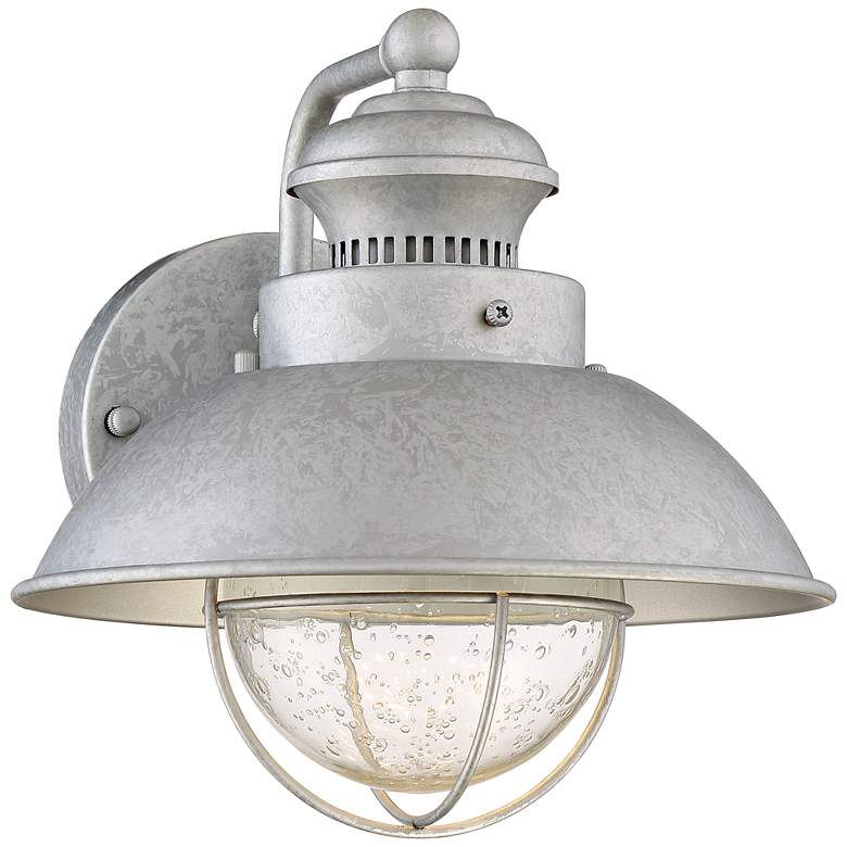 """Fordham 8 1/2"""" High Galvanized LED Outdoor Wall Light"""