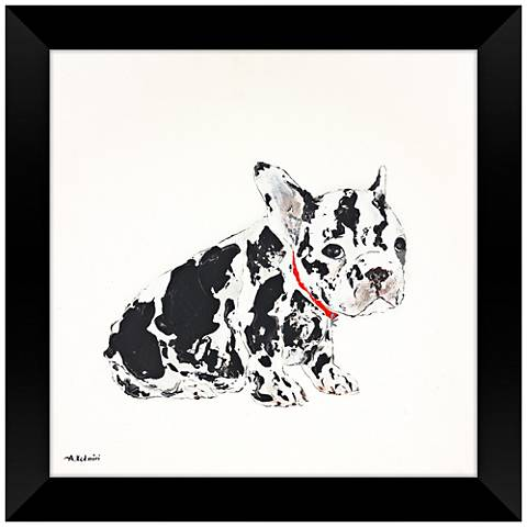 """Only A Face 28"""" Square Puppy Framed Wall Art"""