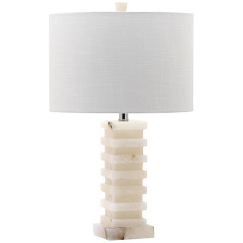 Hutton Stacked Faux Alabaster Table Lamp