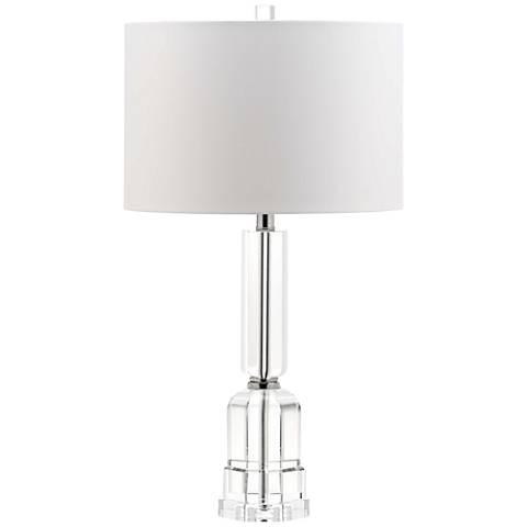 Casalina Polished Nickel Solid Crystal Table Lamp