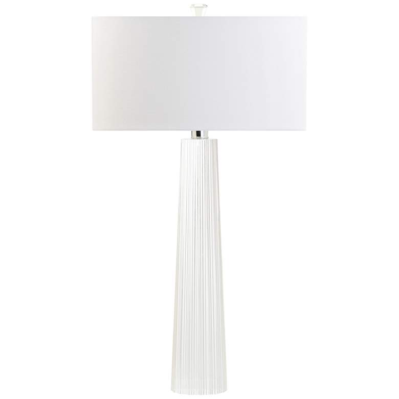Moscolo Carved Tapered Crystal Column Table Lamp