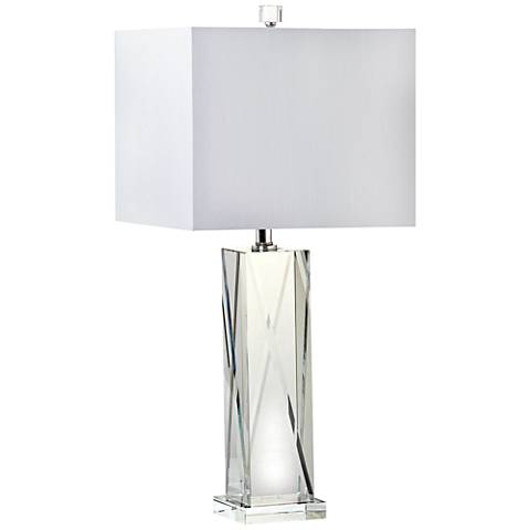 Casola Solid Clear Crystal Table Lamp