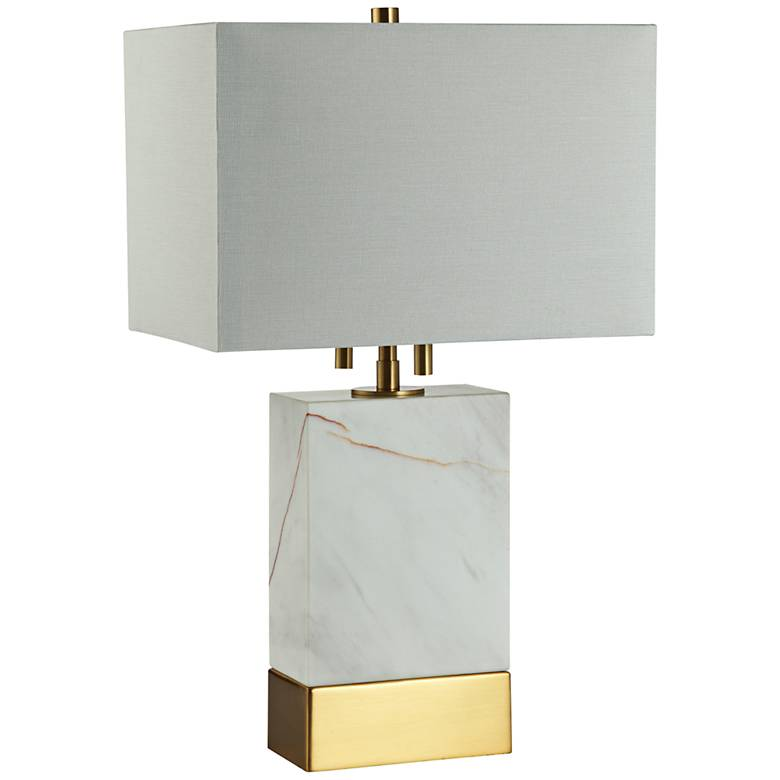 "Alleman Rectangle White Marble 20""H Accent Table Lamp"